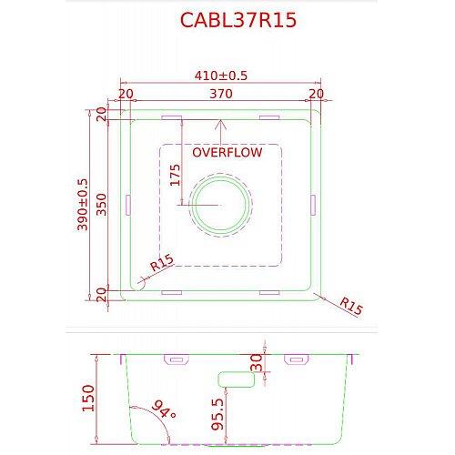 CABL37001 CARESSI Spoelbak