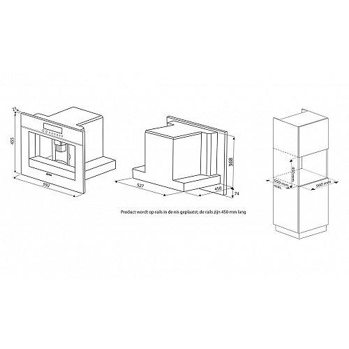CM4511AC ATAG Inbouw koffiezetapparaat
