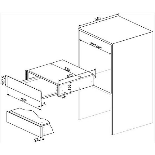 CPR915X SMEG Serviesverwarmer
