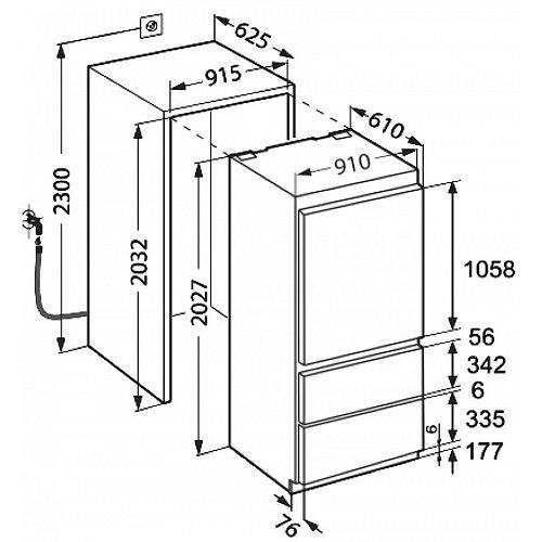 ECBN615622 LIEBHERR Side By Side koelkast