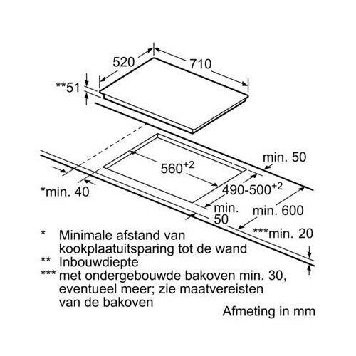 ED777FQC5E SIEMENS Inductie kookplaat