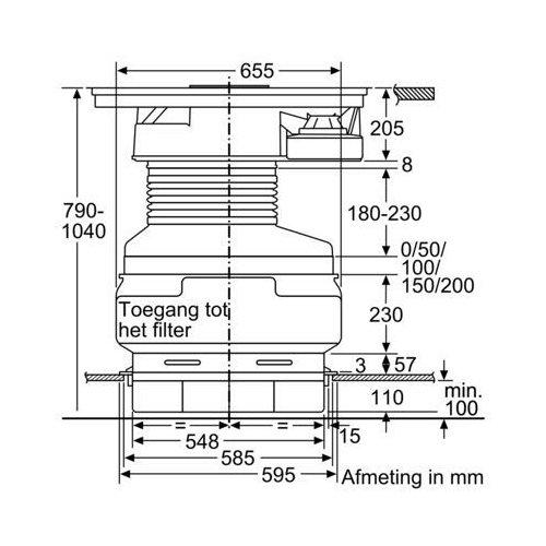 ED877FS21E SIEMENS Kookplaat met afzuiging