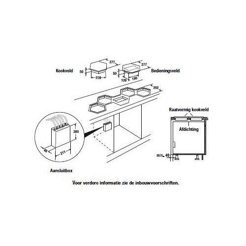 EKWI37400W KUPPERSBUSCH Keramische kookplaat