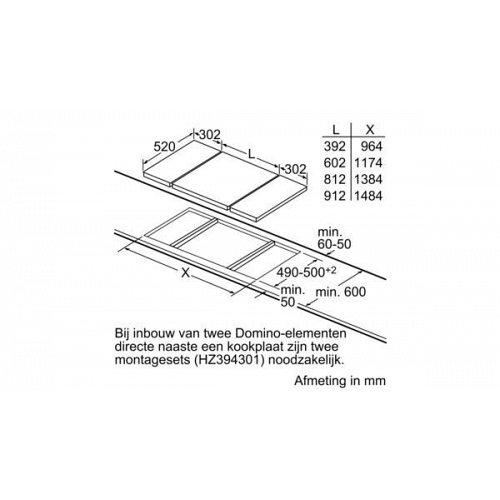 ER3A6AD70N SIEMENS Gas op glaskookplaat (domino)