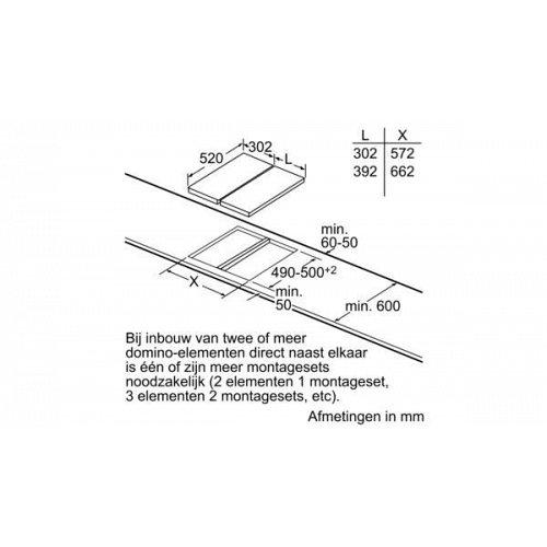 ER3A6BD70N SIEMENS Gas op glaskookplaat (domino)