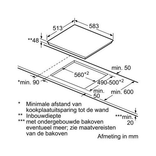 ET645CEA1E SIEMENS Keramische kookplaat