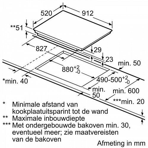EX977LXC1E SIEMENS Inductie kookplaat