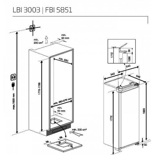 FBI5851 BEKO Inbouw vriezer