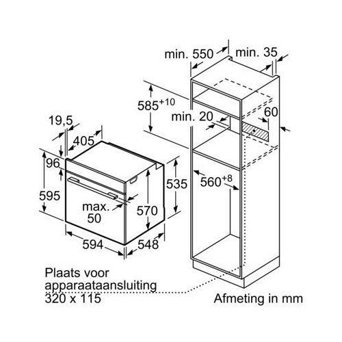 HBA554BS0 BOSCH Inbouw oven