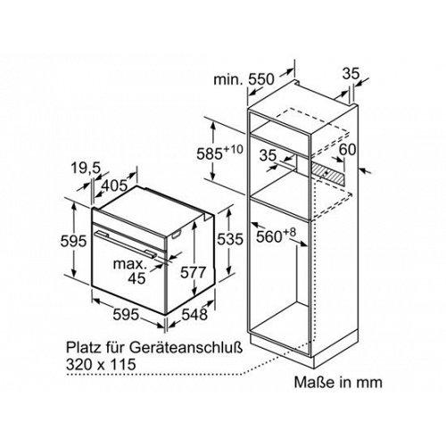 HBG632BS1 BOSCH Inbouw oven
