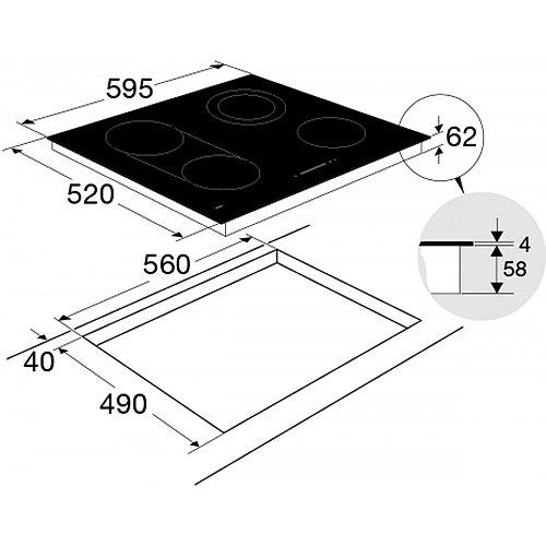 HC6471G ATAG Keramische kookplaat
