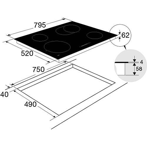 HC8471G ATAG Keramische kookplaat