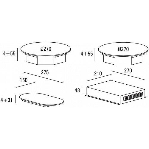 ICI0201 ABK Inductie kookplaat (domino)