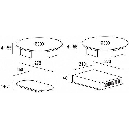 ICI0203 ABK Inductie kookplaat (domino)
