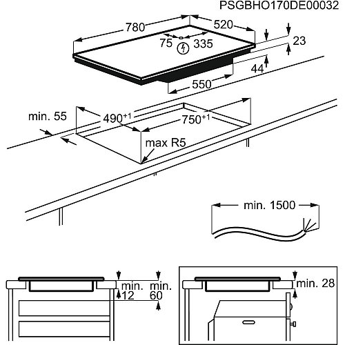 IKB84401FB AEG Inductie kookplaat