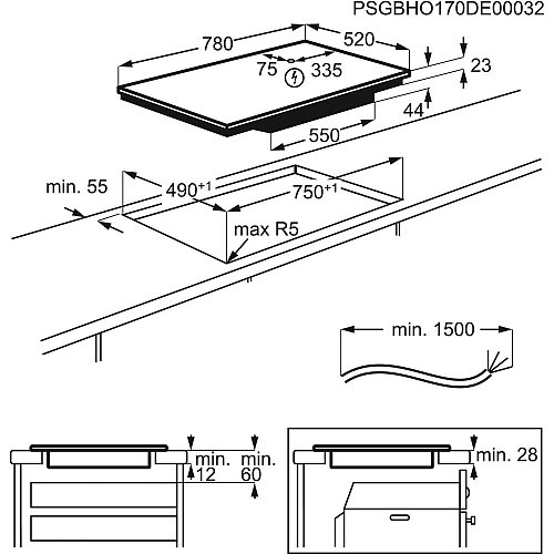IPE8453SFB AEG Inductie kookplaat