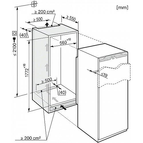 K37273ID MIELE Inbouw koelkast vanaf 178 cm