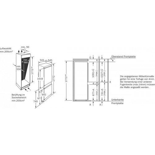 K4400X7FF NEFF Inbouw koelkasten vanaf 178 cm