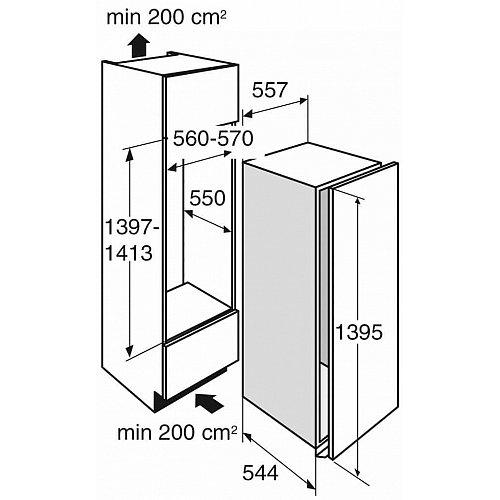KD80140ADN ATAG Inbouw koelkast rond 140 cm