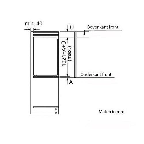 KI31RAD30 SIEMENS Inbouw koelkasten rond 102 cm