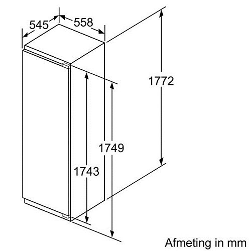 KI81RAD30 SIEMENS Inbouw koelkasten vanaf 178 cm