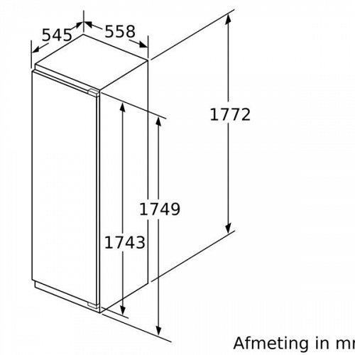 KI82LSDE0 SIEMENS Inbouw koelkast vanaf 178 cm