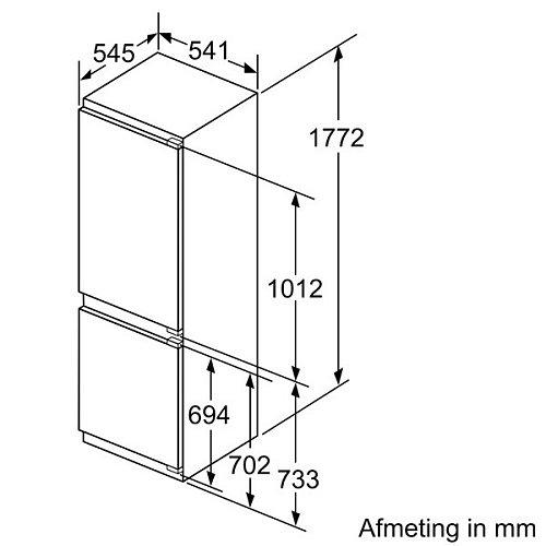 KI86NVFF0 SIEMENS Inbouw koelkast vanaf 178 cm