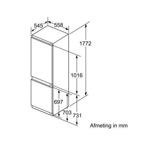 KI86SSD30 SIEMENS Inbouw koelkast vanaf 178 cm