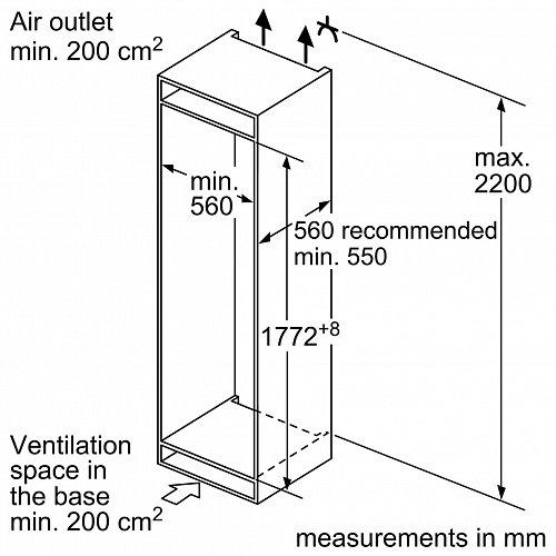 KI86VVF30 SIEMENS Inbouw koelkast vanaf 178 cm