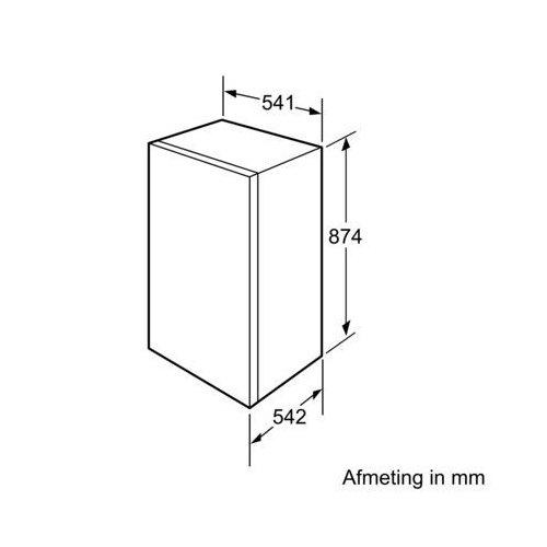 KIR18V51 BOSCH Inbouw koelkast t/m 88 cm