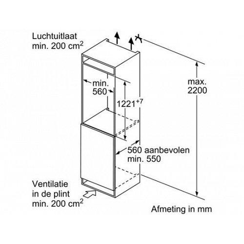 KIR41AD40 BOSCH Inbouw koelkasten rond 122 cm