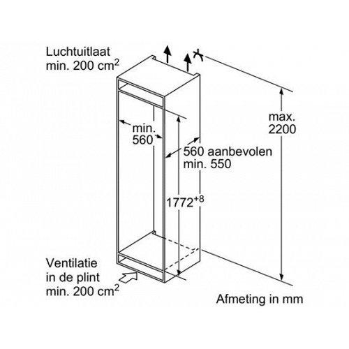 KIR81AF30 BOSCH Inbouw koelkasten vanaf 178 cm