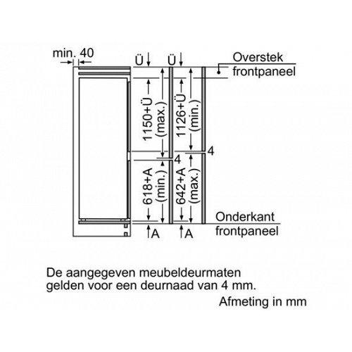 KIS87AD40 BOSCH Inbouw koelkasten vanaf 178 cm
