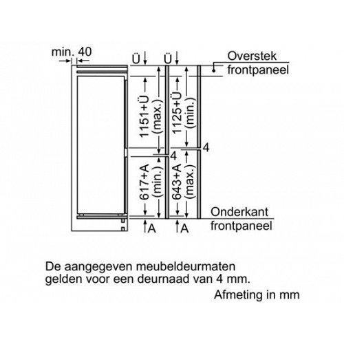KIS87AF30 BOSCH Inbouw koelkast vanaf 178 cm