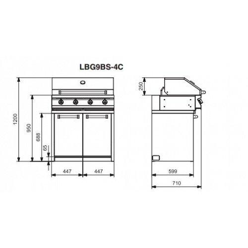 LBG9BS4C LANCELLOTTI Barbecue