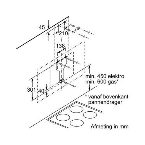 LC87KHM60 SIEMENS Schuine afzuigkap