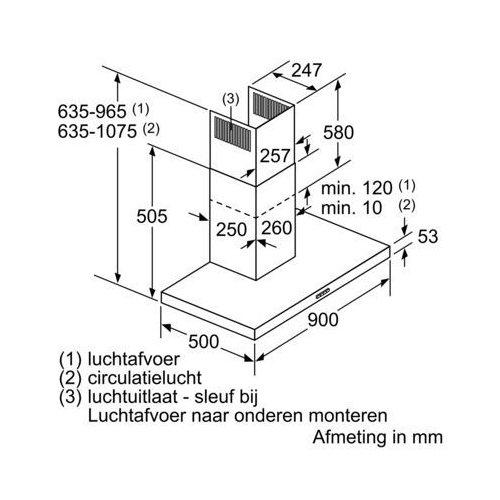 LC94BBC51 SIEMENS Wandschouw afzuigkap