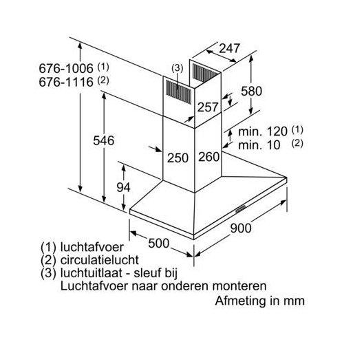 LC96QBM50 SIEMENS Wandschouw afzuigkap