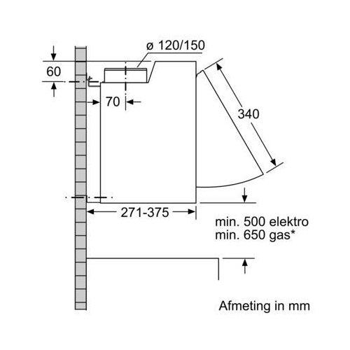 LE63MAC00 SIEMENS Geintegreerde afzuigkap