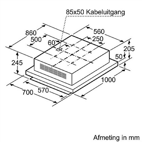 LF16RH560 SIEMENS Plafond afzuigkap