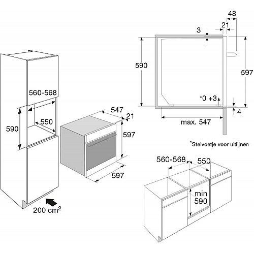 OX6692C ATAG Inbouw oven