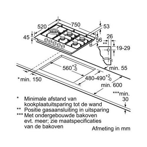 PCS7A5C90N BOSCH Gaskookplaat