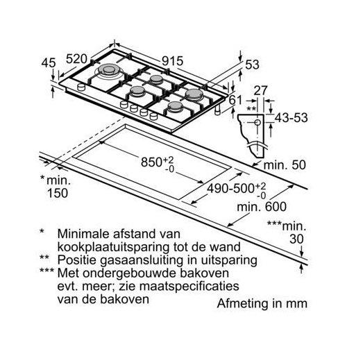 PCS9A5M90N BOSCH Gaskookplaat