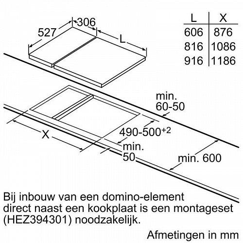 PIB375FB1E BOSCH Inductie kookplaat (domino)