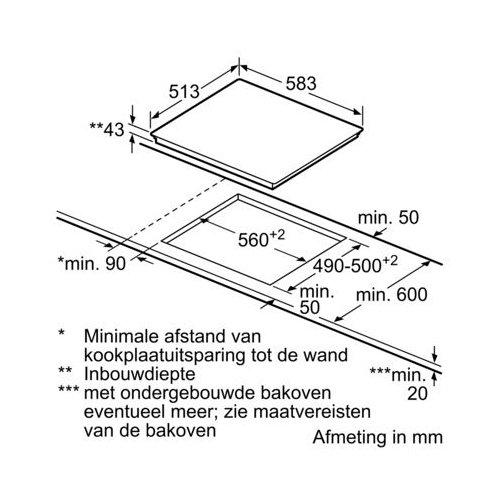 PKF645B17E BOSCH Keramische kookplaat