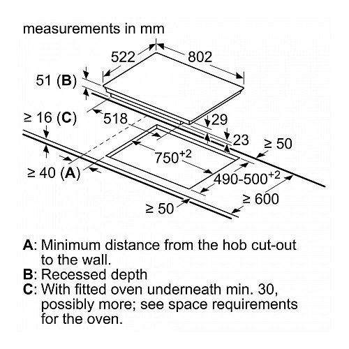 PXV851FC1E BOSCH Inductie kookplaat