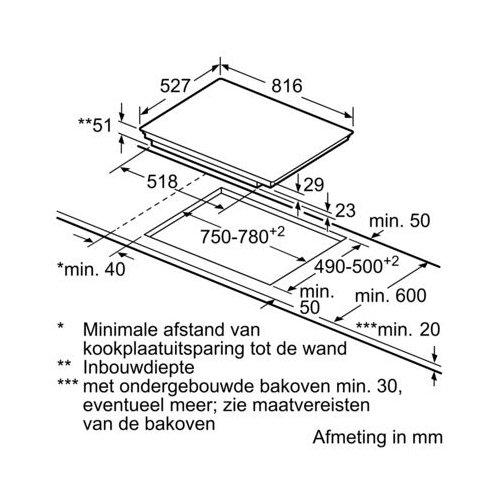 PXV875DC1E BOSCH Inductie kookplaat