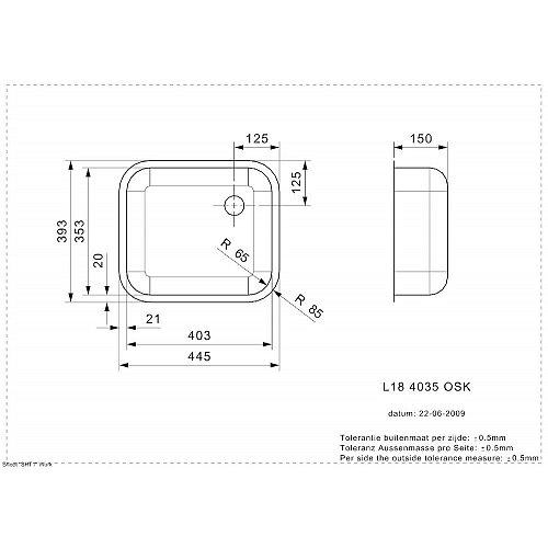 R00762 REGINOX Spoelbak