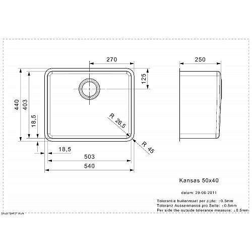 R23518 REGINOX Spoelbak