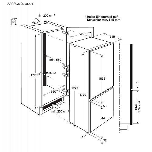 SCB41811LS AEG Inbouw koelkast vanaf 178 cm